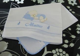Sacchetto bustina con orsetto per Matteo
