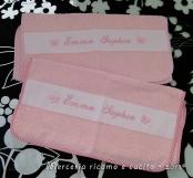 Bavette, sacchetto, asciugamani e busta per Emma Sophia