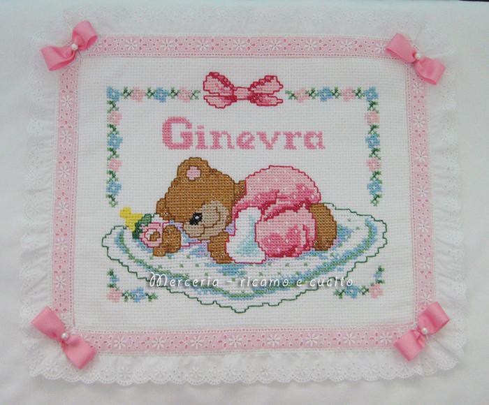 Amato Coperta copripiumino con orsetto dormiglione per Ginevra | Gift FD62