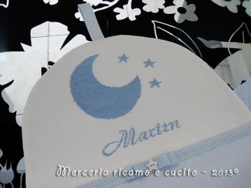Porta pannolini con luna per Martin
