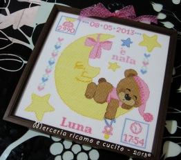 Quadretto nascita per Luna