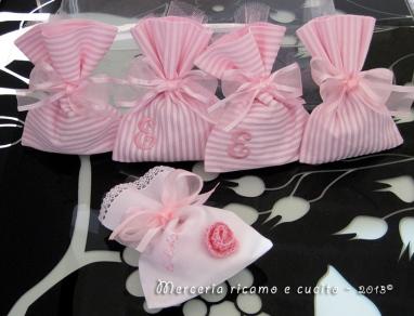 Sacchettini bomboniere portaconfetti per Elisa