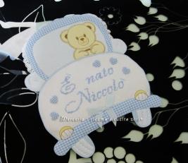 "Fiocco nascita macchina celeste ""E' nato Niccolò"""