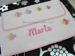 Coppia asciugamani in cotone nido d'ape per Marta