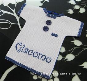 """Maglietta auto """"bimbo a bordo"""" per Giacomo"""