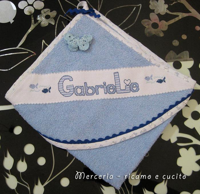 Favoloso Accappatoio con farfalla per neonato in spugna : (Grottaglie) SM01