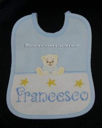 Bavetta con orsacchiotto per Francesco