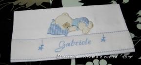 Set per nascita - Fiocchi nascita, sacchetto, porta biberon e ciuccio per Gabriele