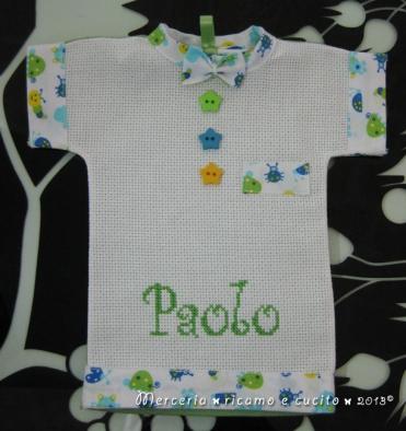 """Maglietta auto """"bimbo a bordo"""" per Paolo"""