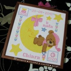 Quadretto nascita per Chiara