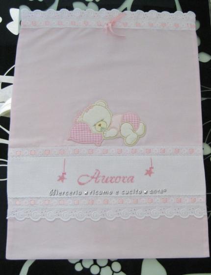 sacchetto elegante e fiocco nascita stellina per Aurora