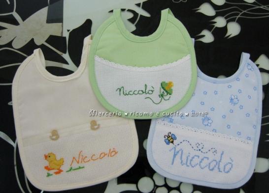 Bavette personalizzate per Niccolò