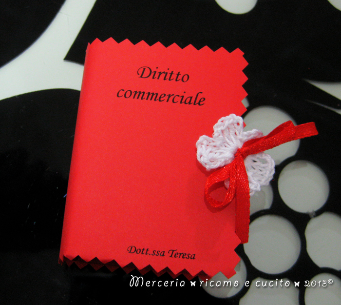 Popolare Bomboniera portaconfetti a forma di libro con esami Laurea in  AX45