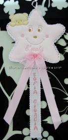 Fiocco nascita stellina rosa per Sofia Giorgia
