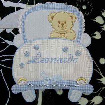 Fiocco nascita macchina celeste per Leonardo