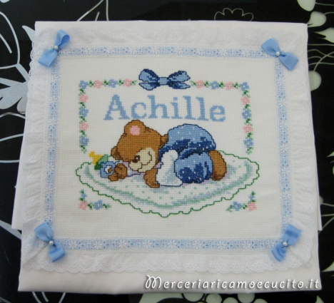 Coperta copripiumino con orsetto dormiglione per Achille