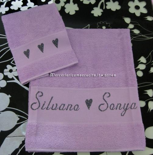 Coppia asciugamani in spugna per Silvano e Sonya