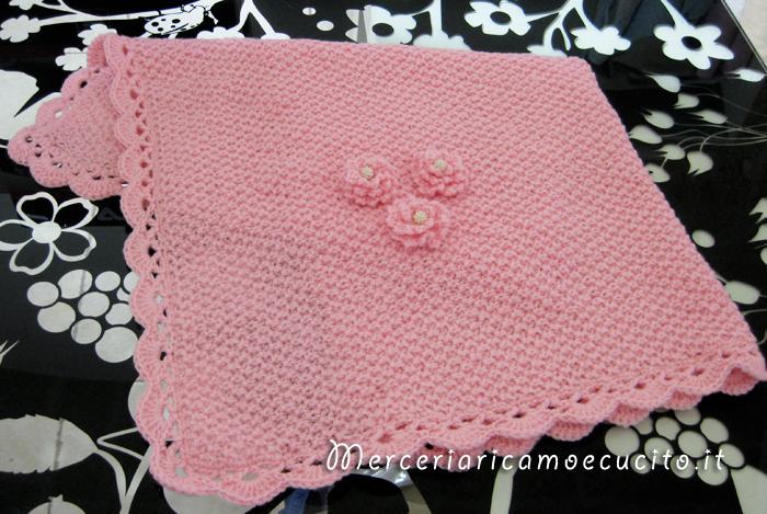 Copertina e fascia per capelli rosa in lana gift for Piani di coperta facili