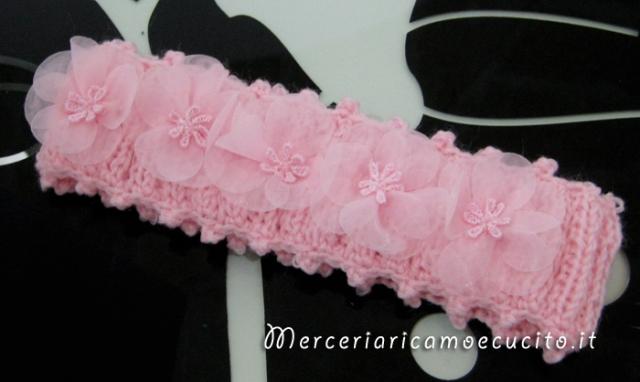 Scarpette E Fascie Per Capelli Rosa In Cotone Alluncinetto 2 Gift