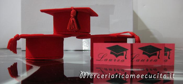 Bomboniera portaconfetti a forma di tocco per Laurea