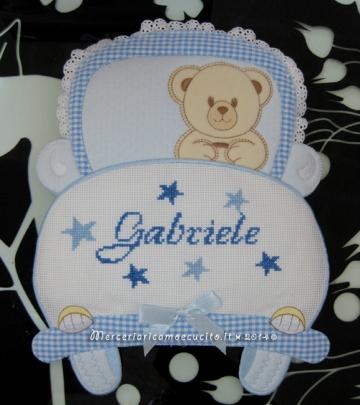 Fiocco nascita macchina celeste per Gabriele
