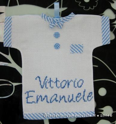 """Maglietta auto """"bimbo a bordo"""" per Vittorio Emanuele"""