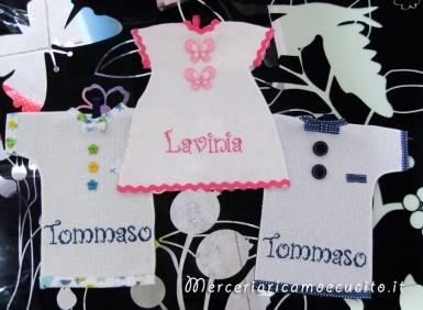 Magliette auto bimbo a bordo per Lavinia e Tommaso