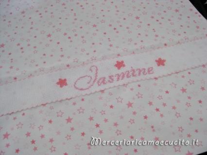 Sacchetto nascita e asilo con stelline per Jasmine