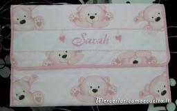 Busta trapuntata portaoggetti con orsetti per Sarah