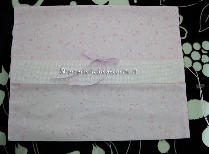 Sacchetto con paperette rosa per nascita e asilo