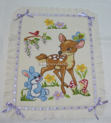 Copertina in piquet con Bambi