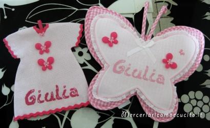 Fiocco-nascita-farfalla-e-maglietta-auto-per-Giulia