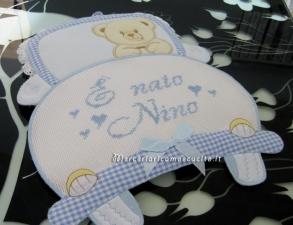 Fiocco nascita macchina celeste E' nato Nino