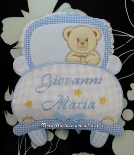 """Fiocco nascita macchina celeste per """"Giovanni Maria"""