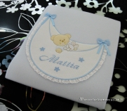 Fiocco nascita palloncino, copertina con amaca e borsa beauty per Mattia