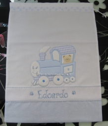 Set corredino per nascita - Sacchetti, bavette e fiocco nascita aeroplano per Edoardo