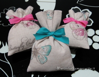 Sacchettini bomboniera portaconfetti butterfly