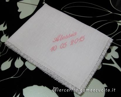 Asciugamano battesimo per Alessia