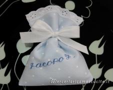 Sacchettini bomboniere portaconfetti pois per Jacopo