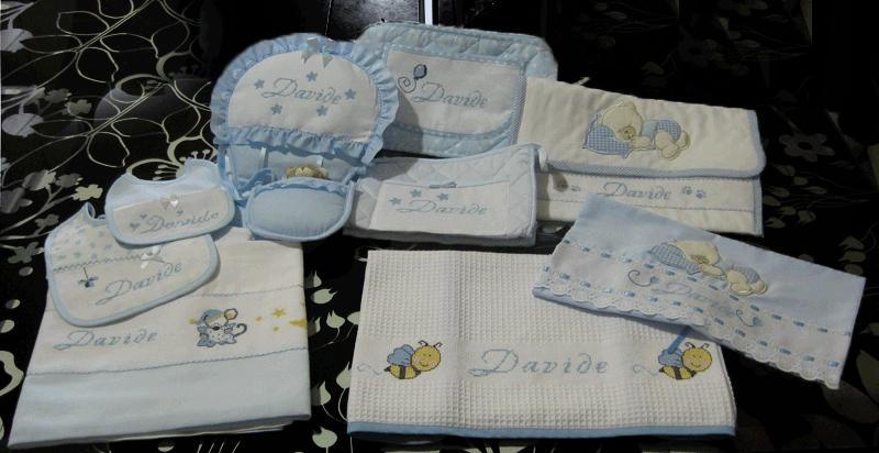 Set corredino per nascita lenzuolino asciugamano - Portaoggetti bimbo ...
