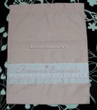 Set per nascita - Fiocco nascita stellato, sacchetto, cuffia e scarpette per Francesca Emanuela
