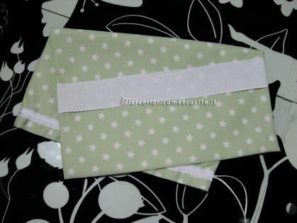 Sacchetto stellato verde per nascita e asilo