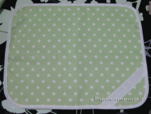 Tovaglietta stellata verde per nascita e asilo