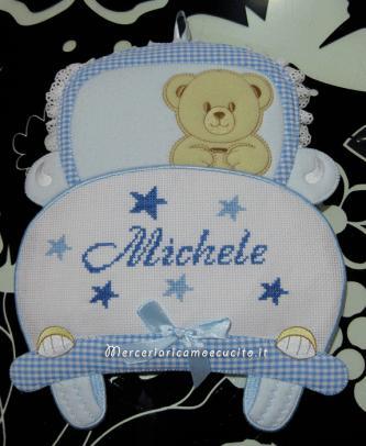 Coccarda Fiocco nascita macchina celeste per Michele