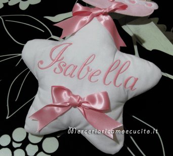 """Fiocco nascita rosa con palloncini """"È nata una bimba"""" e cestino con orsetto per Isabella"""