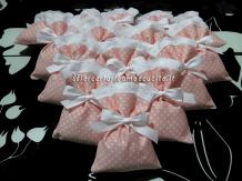 Sacchettini bomboniere portaconfetti rosa pois