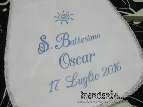Camicina battesimale per Oscar