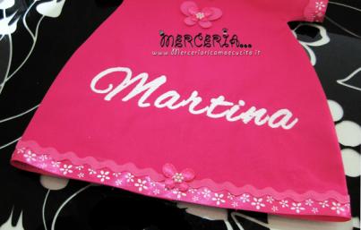 Fiocco nascita maglietta per Martina