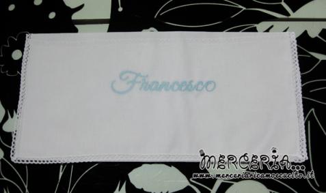 Asciugamano con merletto in cotone personalizzato con nome