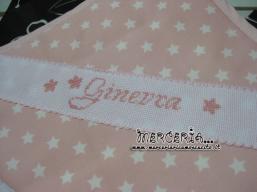 Accappatoio in spugna con stelline rosa per Ginevra